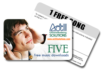 Promotional music cards
